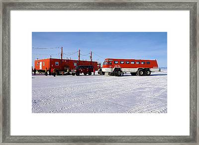 Antarctic Tundra Bus Framed Print by David Barringhaus