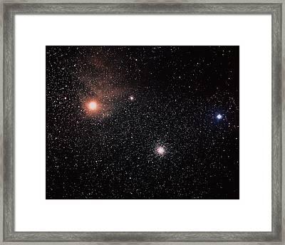 Antares & Starfield Framed Print by Luke Dodd