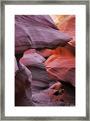 Antelope Canyon - Canvas For Nature's Compositions Framed Print by Christine Till