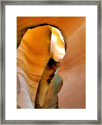 Antelope Canyon - Nature's Extravaganza Framed Print by Christine Till