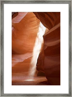 Antelope Canyon - The Mystery Of Nature's Creativity Framed Print