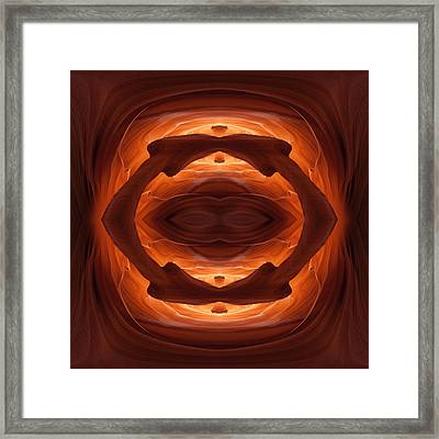 Antelope Canyon Circle Framed Print by Gregory Scott