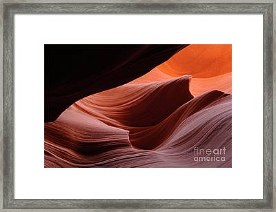 Antelope Canyon Frozen In Time Framed Print by Bob Christopher