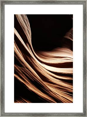 Antelope Canyon Shapes Framed Print