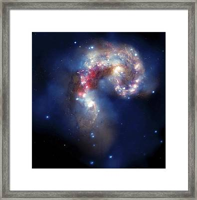 Antennae Galaxies, Composite Image Framed Print by Nasa