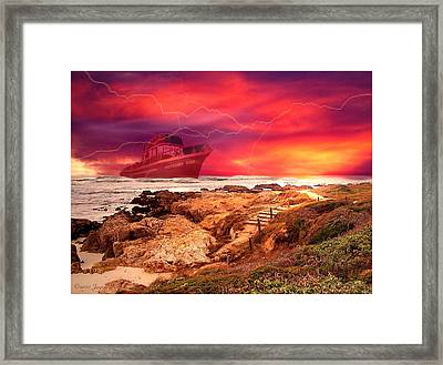 Anthony Boy Waiting Out The Storm Framed Print by Joyce Dickens