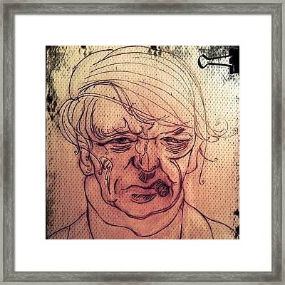 Anthony Burgess Framed Print