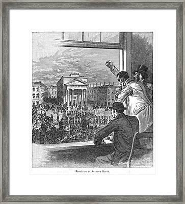 Anthony Burns (1834-1862) Framed Print by Granger