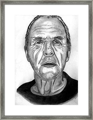 Anthony Hopkins  Framed Print by Ralph Harlow