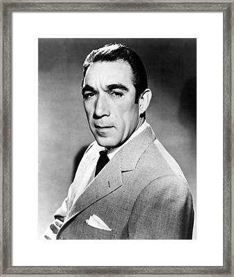 Anthony Quinn, United Artists Publicity Framed Print by Everett