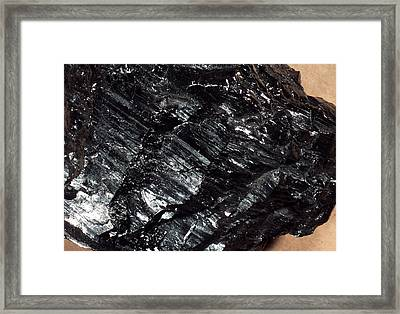 Anthracite Coal Framed Print by Dirk Wiersma