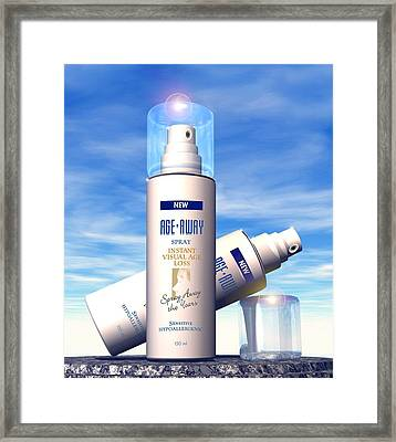 Anti-ageing Cosmetics Framed Print by Victor Habbick Visions