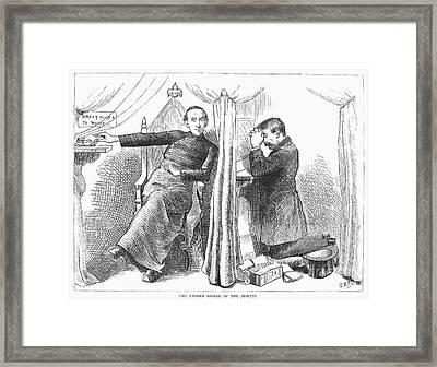 Anti-catholic Cartoon, 1873 Framed Print by Granger