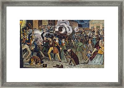 Anti-catholic Mob, 1844 Framed Print by Granger