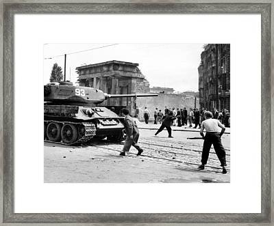 Anti-communist Riots In East Germany Framed Print by Everett