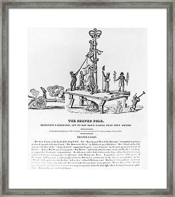 Anti-democrat Cartoon Framed Print by Granger