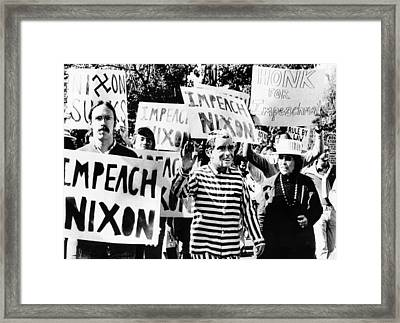 Anti-nixon Demonstrators At The White Framed Print by Everett
