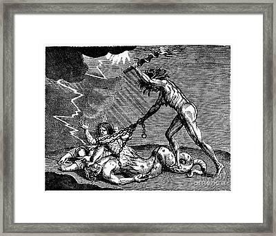 Anti-protestant Cartoon Framed Print
