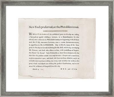 Anti-republican Broadside Of March 4 Framed Print