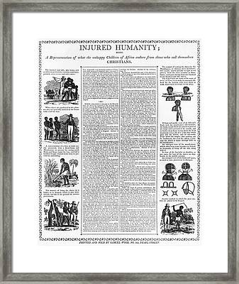 Anti-slavery Broadside Framed Print