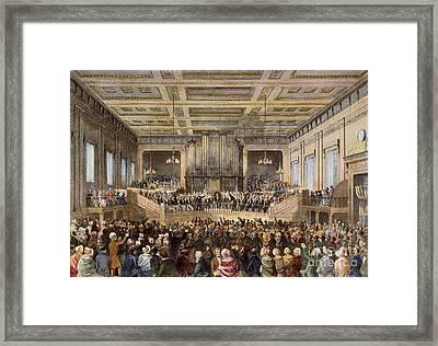 Anti-slavery Convention Framed Print by Granger