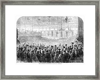 Anti-slavery Meeting, 1863 Framed Print by Granger