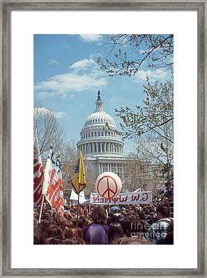 Anti-war March In Washington, D.c Framed Print