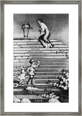 Anti-womans Suffrage Political Cartoon Framed Print by Everett