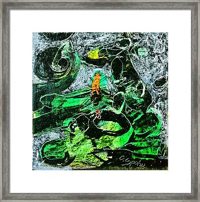 Antibodies In Another Green World Framed Print by Cliff Spohn