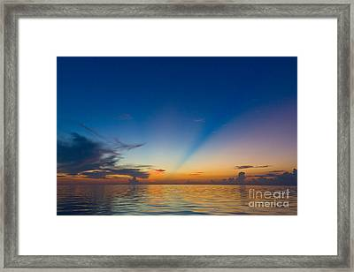 Anticrepuscular Rays Framed Print by Jen TenBarge