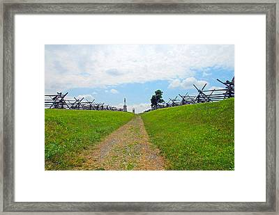 Framed Print featuring the photograph Antietam Battle Of Bloody Lane by Cindy Manero