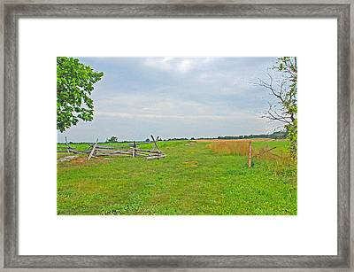 Framed Print featuring the photograph Antietam Battle Of The Cornfield by Cindy Manero