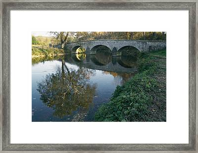 Antietam Creek Reflects The Arches Framed Print