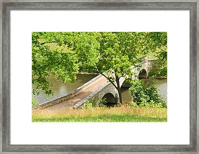 Framed Print featuring the photograph Antietam's Burnside Bridge by Cindy Manero