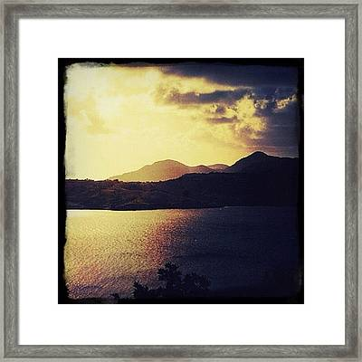 Antigua At Dusk Framed Print by Natasha Marco