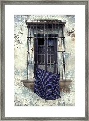 Framed Print featuring the photograph Antigua Window Guatemala by John  Mitchell