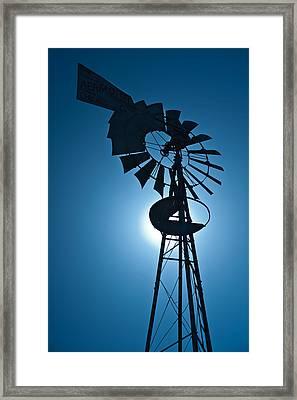 Antique Aermotor Windmill Framed Print by Steve Gadomski