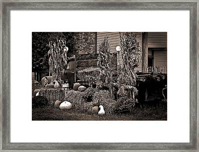 Antique Autumn Framed Print by DigiArt Diaries by Vicky B Fuller