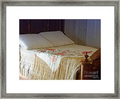 Antique Bed Framed Print by Methune Hively