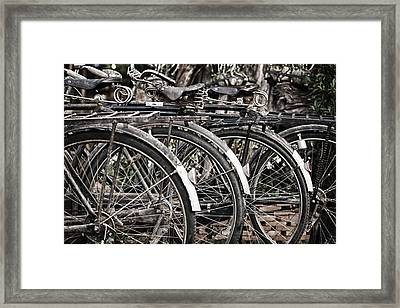Antique Bicycles Framed Print by Thomas  von Aesch