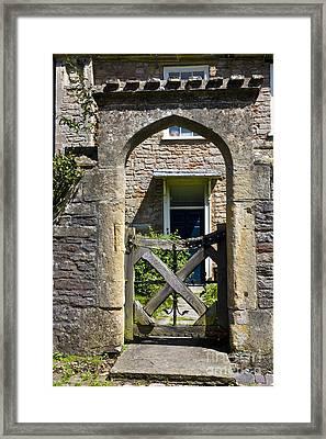 Antique Brick Archway Framed Print by Heiko Koehrer-Wagner