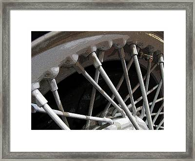 Framed Print featuring the photograph Antique Car Close-up 001 by Dorin Adrian Berbier