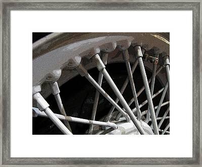 Antique Car Close-up 001 Framed Print by Dorin Adrian Berbier
