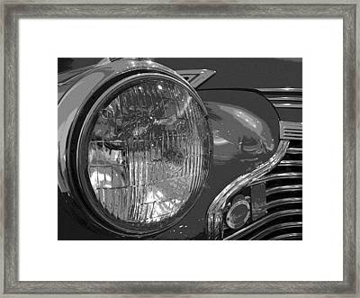 Framed Print featuring the photograph Antique Car Close-up 002 by Dorin Adrian Berbier