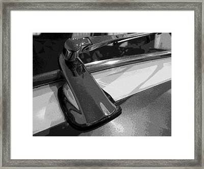 Framed Print featuring the photograph Antique Car Close-up 004 by Dorin Adrian Berbier