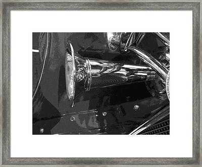 Framed Print featuring the photograph Antique Car Close-up 005 by Dorin Adrian Berbier