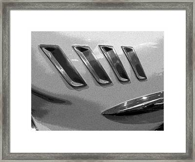 Framed Print featuring the photograph Antique Car Close-up 006 by Dorin Adrian Berbier