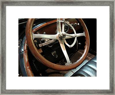 Framed Print featuring the photograph Antique Car Close-up 009 by Dorin Adrian Berbier
