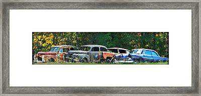 Antique Cars Graveyard Framed Print