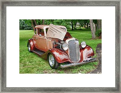 Antique Chevy  7757 Framed Print by Guy Whiteley